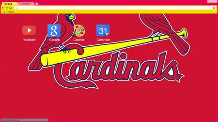 St. Louis Cardinals Logo Chrome Theme