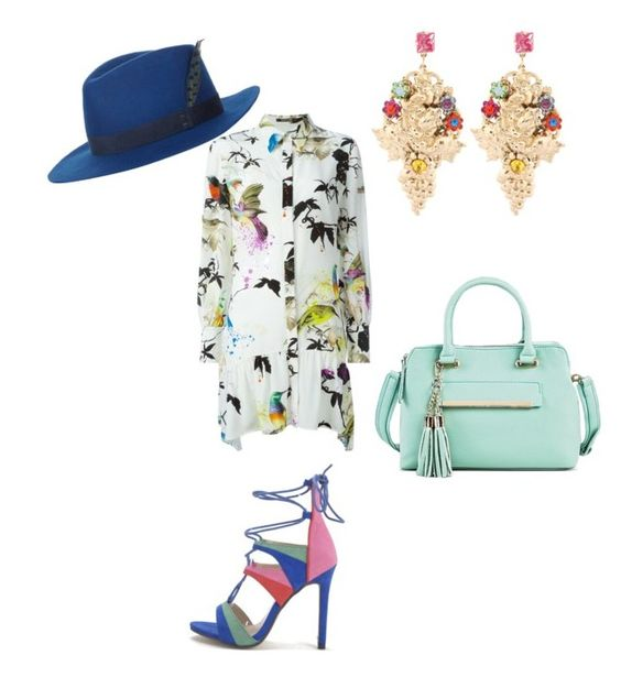 """""""Untitled #246"""" by jada-aphrodite on Polyvore featuring Roberto Cavalli, Under One Sky, House of Lafayette and Halo & Co."""