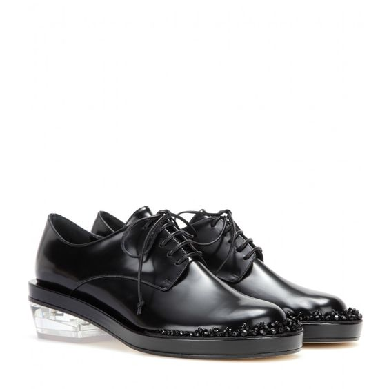 simone rocha,shoes,black,clear sole,beads