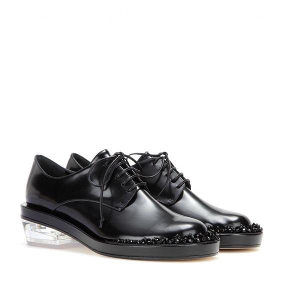 simone rocha,shoes,black,clear sole,beads