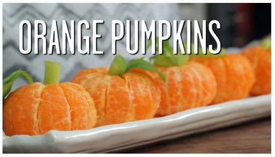 "How to make ""orange pumpkins"". cute little party treat."