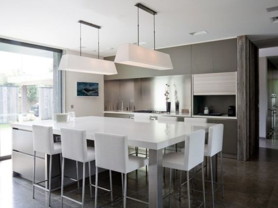 Modele Chambre Fille Peinture :  cuisine cuisine ilot table maison cuisine table de cuisine moderne