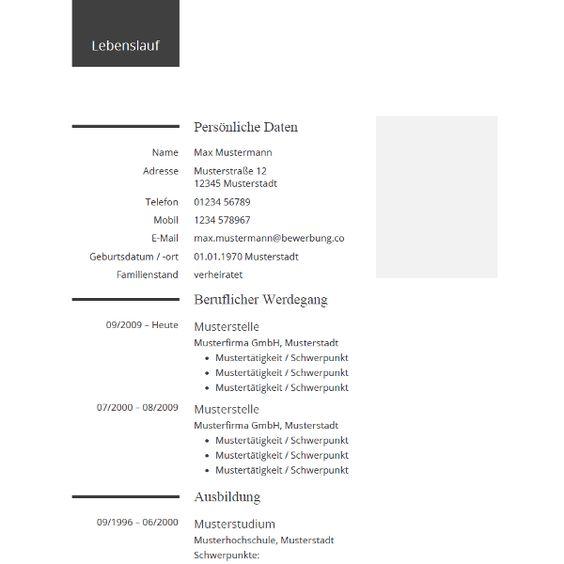 Lebenslauf Beispiel Für Die Bewerbung - Example Cv For Your Resume