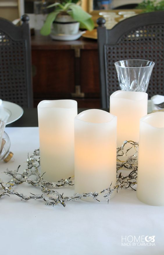 These BHG Flameless LED candles can bring sophistication to anyone's holiday dinner table, without burning curious little fingers! #BHGlivebetter
