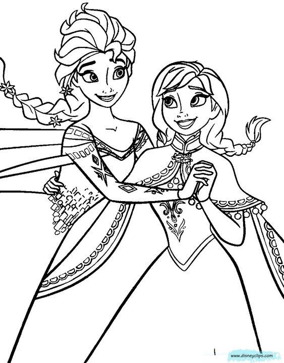 Anna And Elsa Coloring Pages Disney Frozen Printable Coloring Pages Disney Coloring Book Birijus Com Princess Coloring Pages Elsa Coloring Pages Elsa Coloring