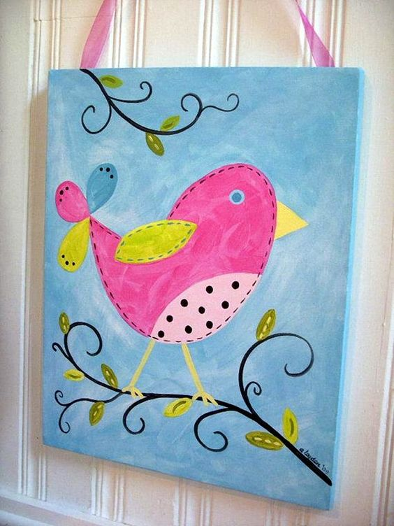 30 more canvas painting ideas birds cute birds and canvases