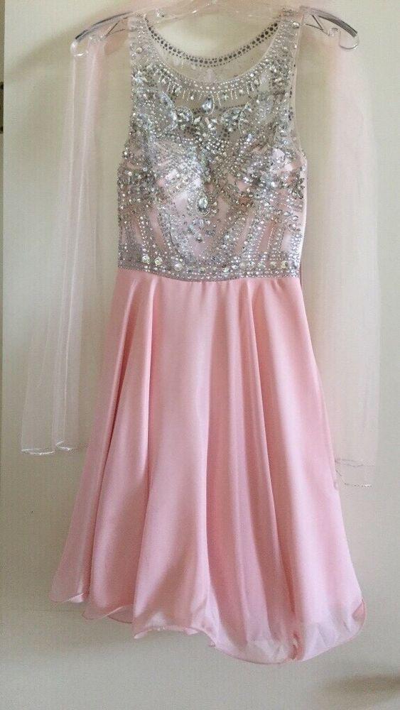 Formal dress junior XS in light pink