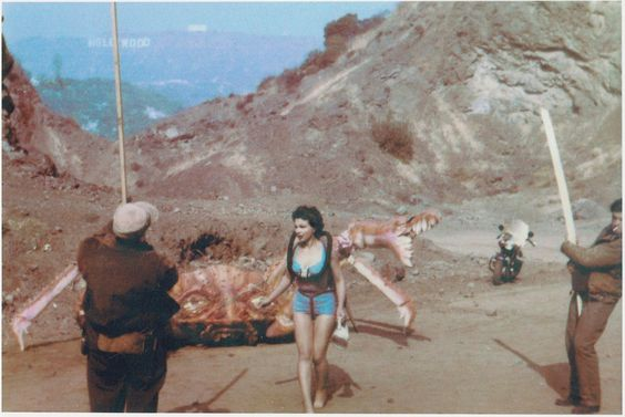 Two techs assist the Attack of the Crab Monsters ~ 1957
