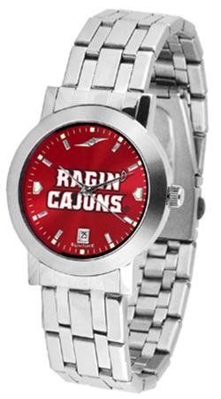 Louisiana Lafayette Cajuns Men's Modern Stainless Steel Watch by SunTime. $80.95. AnoChrome Dial Option. Stainless Steel Band. Officially Licensed Louisiana at Lafayette Cajuns Men's Watch Stainless Steel. Men. Links Make Watch Adjustable. Louisiana Lafayette Cajuns Men's Modern Stainless Steel Watch. This Cajuns watch has a modern sleek design for the modern man who wants to show their team spirit! The dial is presented in a sleek, stainless steel case and bracelet that ...