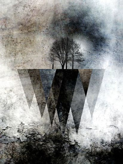 Neu in meiner Galerie bei OhMyPrints: TREES over MAGIC MOUNTAINS II-HF #Ohmyprint  #kunst #art #ateliercolourvision #piaschneider #landscape #triangles #modern