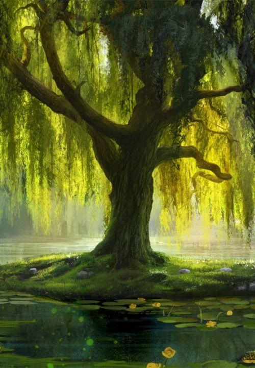 The Willow Bath by Anna Lakisova