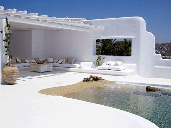 107 Id Es Comment Faire Une Terrasse Ext Rieure Moderne Wanderlust Arri Re Cours Et Salon Blanc