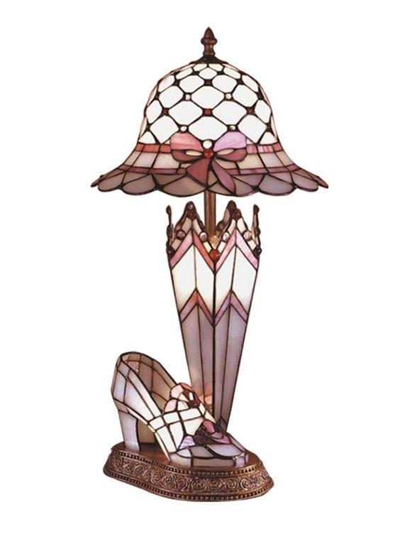 View the Dale Tiffany 84070 Victorian Hat / Shoe / Umbrella Table Lamp with Art Glass Shade at LightingDirect.com.
