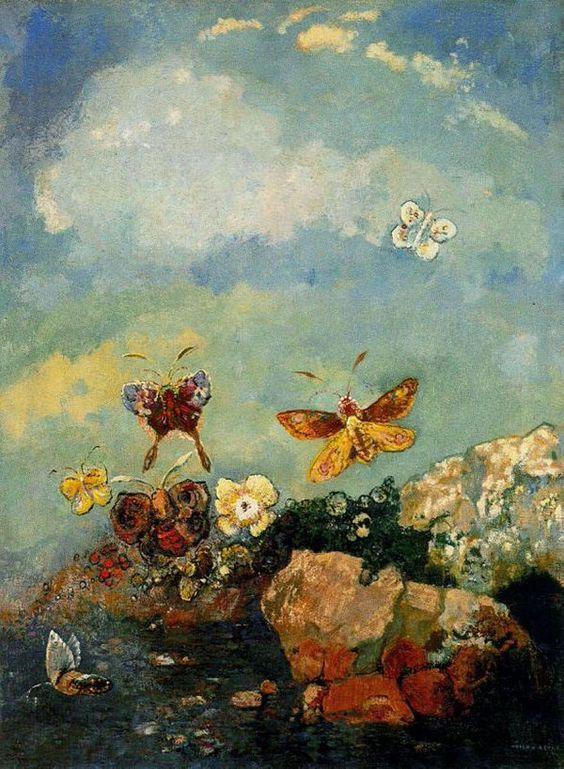 Odilon Redon(1840ー1916 French)「Butterflies」