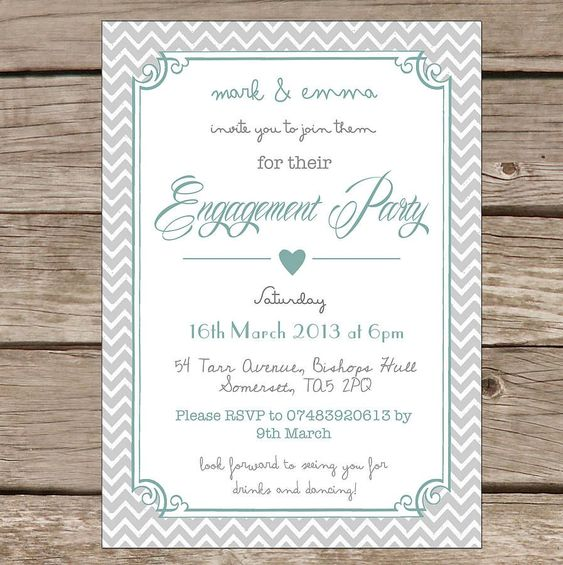 Word Engagement Party Invitation Templates | Engagement