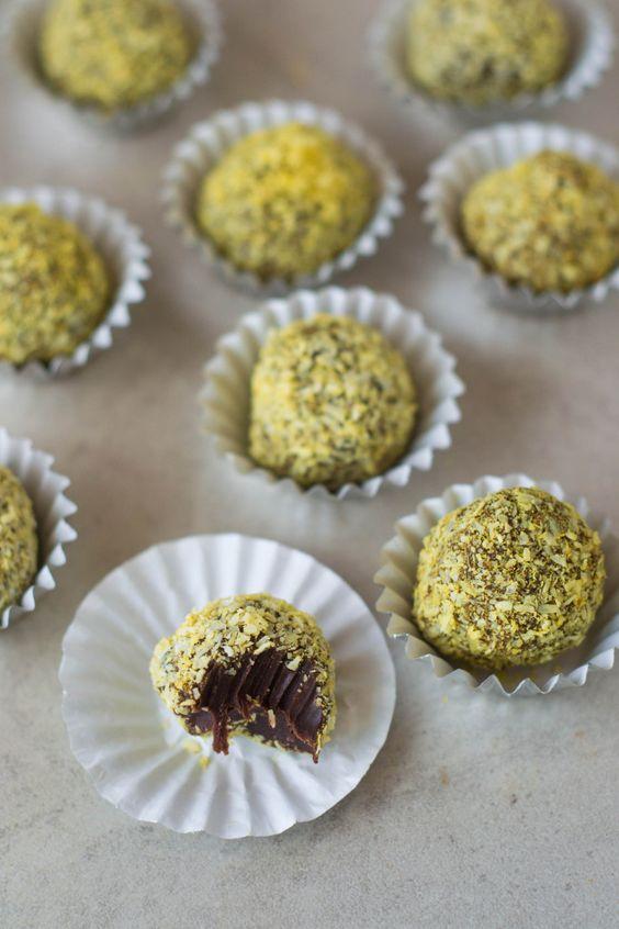Raw Coconut & Turmeric Chocolate Truffles - Use maple syrup, not honey