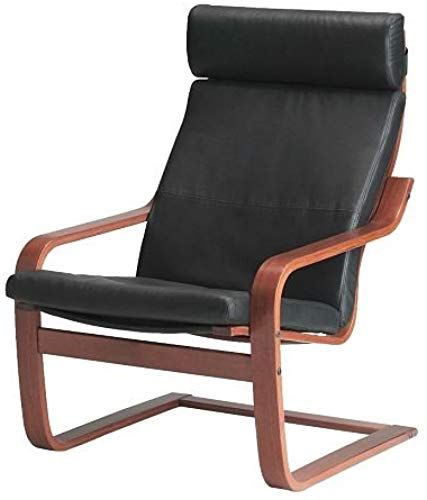 Best Seller Ikea Poang Chair Armchair Footstool Set Black Leather Covers Online En 2020 Chaise Fauteuil Fauteuil Chaise