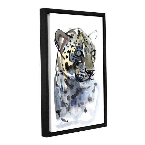 ArtWall Mark Adlington's 'Arabian Leopard I' Gallery Wrapped Floater-framed Canvas