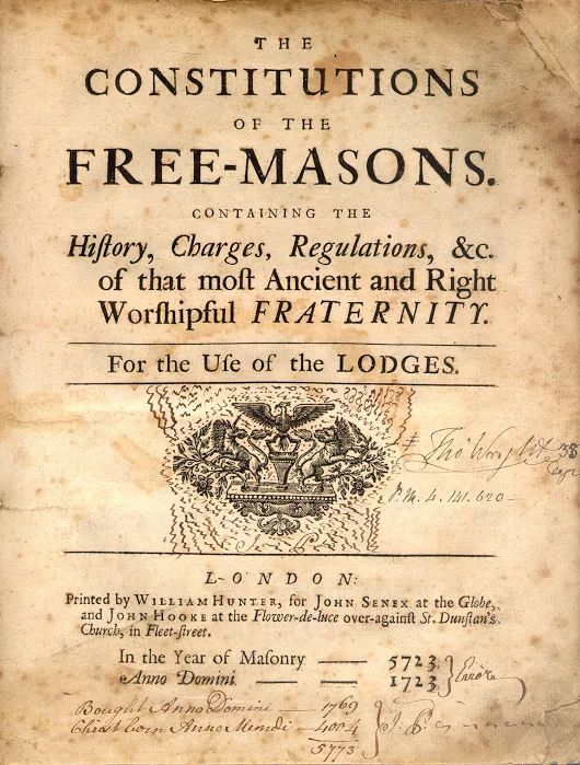Today in Masonic History - Anderson's Constitutions