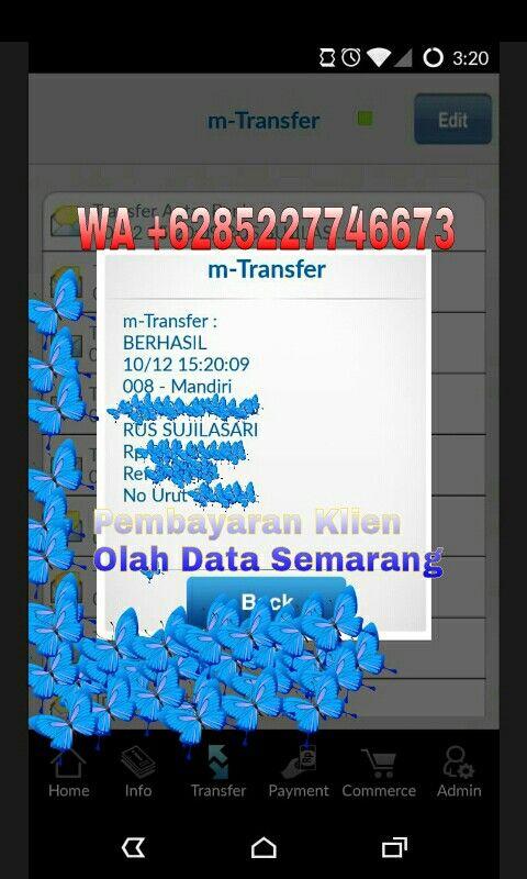 Bukti Pembayaran Klien Kepada Olah Data Semarang Wa 085227746673 Melayani Jasa Olah Data Software Spss Eviews Amos Lisrel Smartpls Wdea Semarang Statistika