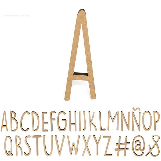 Letras madera Miss Craft
