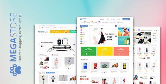 cool Megastore Multi-Goal Ecommerce HTML Template (Retail)