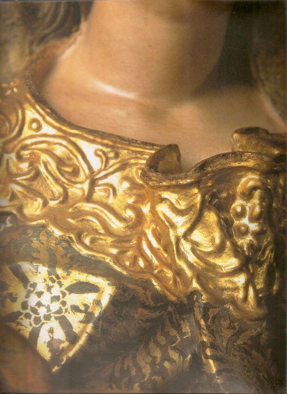Esta imagem de Santana Mestra pertence ao Museu do Ouro, em Sabará. Atribuída a Aleijadinho, cerca de 1775-1790.   O trabalho de douram...