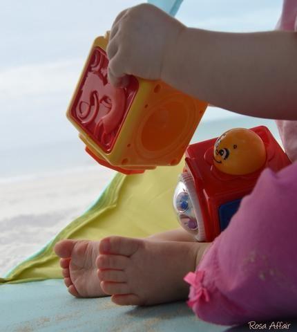 Praia, momentos, bebé
