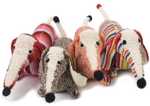 knitted sausage dogs