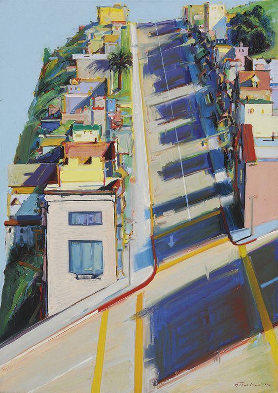 Ripley street ridge, 1976 by Wayne Thiebaud
