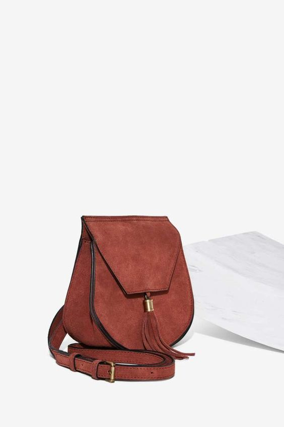 All For the West Suede Crossbody Bag - Accessories | Bags + Backpacks