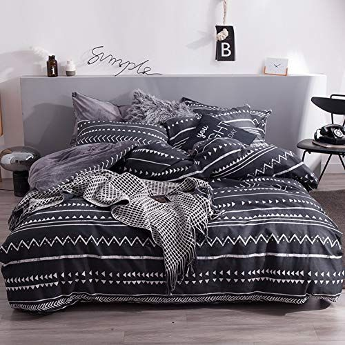 Flannel Duvet Cover Set Quilt Cover With Cotton Inside Full Size Bedding Set Soft And Warm 4 Piece Set Full Size Bed Sets Flannel Duvet Cover Duvet Cover Sets King size flannel duvet cover