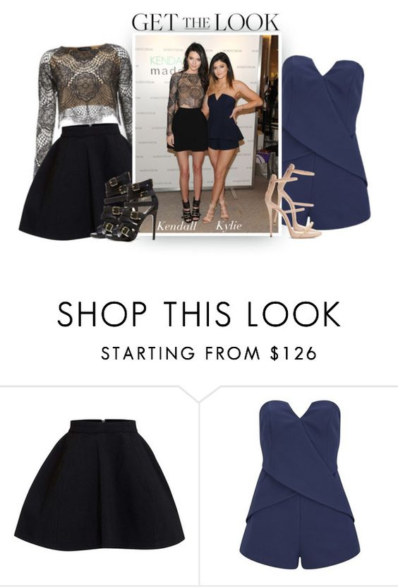 """""""Sisters Jenner"""" by hollowpoint-smile ❤ liked on Polyvore featuring Finders Keepers, Giuseppe Zanotti, GetTheLook, kendalljenner, KylieJenner and celebritysiblings"""