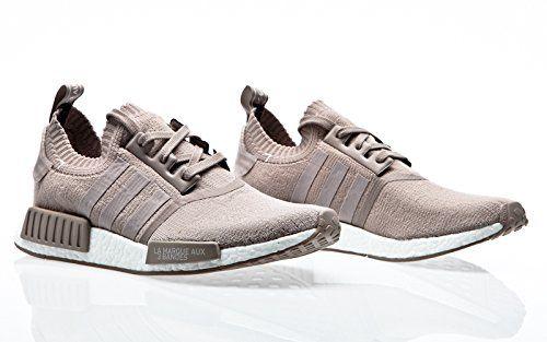 Adidas Originals NMD R1 Primeknit Trainers in Beige & Vapour Grey ...