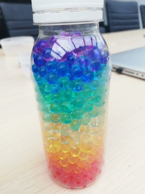 Rainbow Orbeez Slime Mason Jars Holiday Season