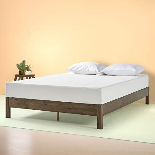 Zinus Tosha 12 Inch Wood Platform Bed King Zinus In 2020 Solid