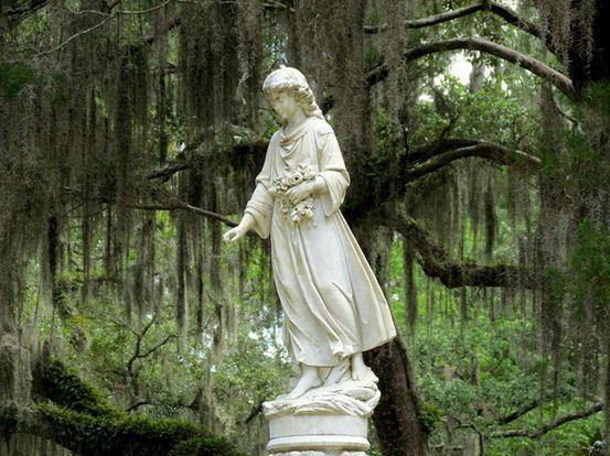 Savannah, Georgia,  the city's historic Bonaventure Cemetery,
