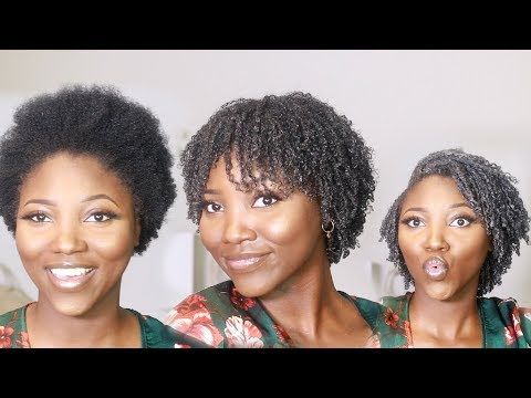 My First Wash And Go Short Natural 4c Hair Activating 4c Curls