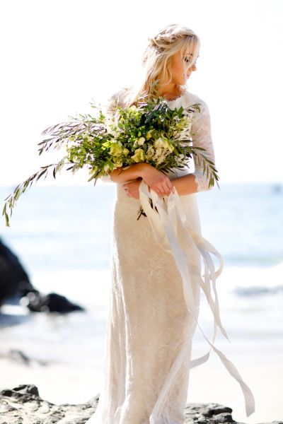 3/4 sleeve wedding dress: