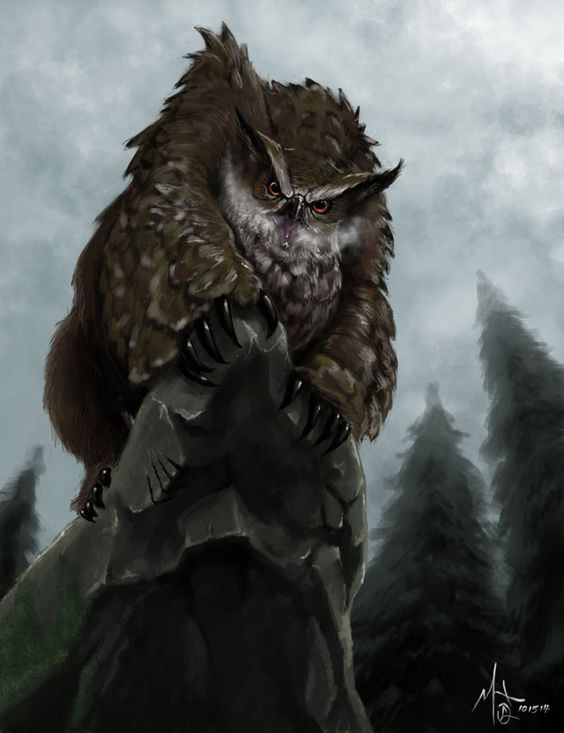 Owlbear: Also referred to as The Braves of Tanaagar, owlbears are a well known predator of the frontier. Many believe that these beasts originated in Oki from this region and claim that the legendary progenitor of the species still walks the land.
