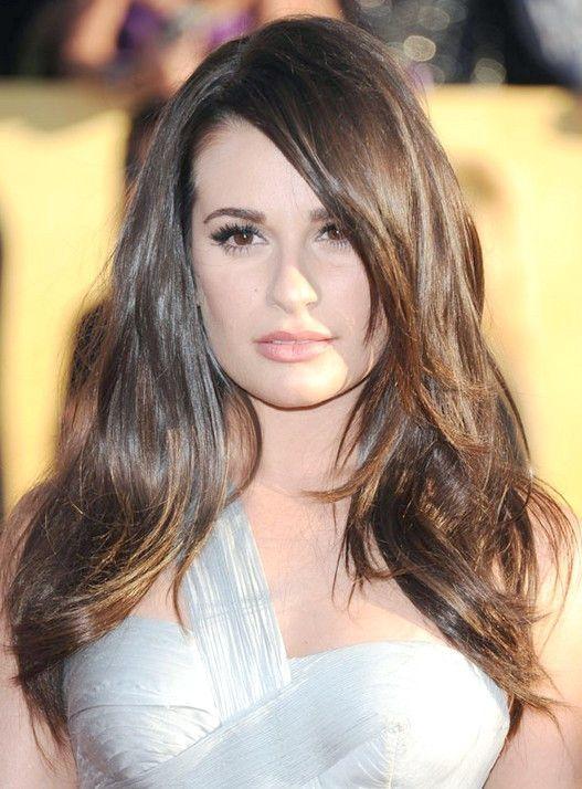 Top 15 Lea Michele Frisuren Frisur Lange Haare Pony