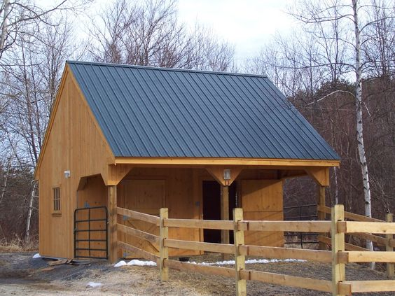 High resolution images horse barn plans and cabin kits on for 2 stall horse barn kits