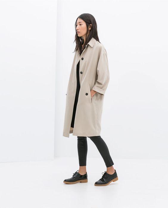 TRENCH FLUIDE de Zara
