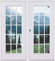 Vinyl Patio Doors   Double French Doors X L/H Open Mobile Home Parts Manufactured  Home Supplies