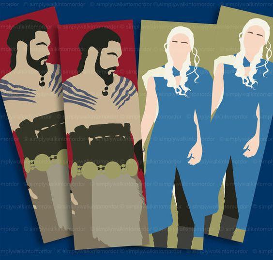 Game of Thrones Drogo or Daenerys bookmark by simplywalkintomordor