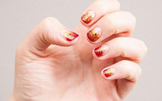 """Unhas em chamas: aprenda a fazer uma nail art inspirada em """"Jogos Vorazes"""" - Celebs - iG"""