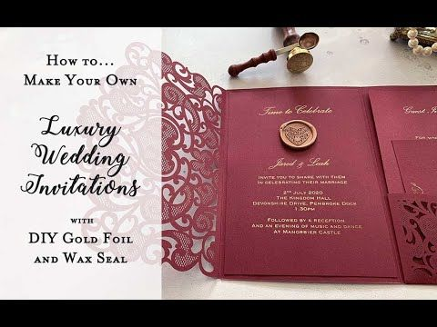 How To Make Wedding Invitations Luxury Diy Wedding Invitations With Wax In 2021 Make Your Own Wedding Invitations Pocket Wedding Invitations Wedding Invitations Diy