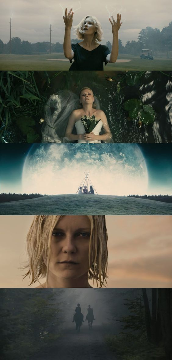 10 Movies About Depression. Scenes from the movie Melancholia. #movies