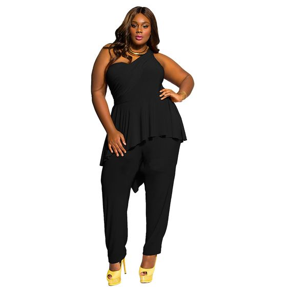 CELEB WOMEN CASUAL LOOSE LONG HARM VEST SLEEVELESS JUMPSUIT ROMPER BLACK COLOR OVERSIZE PLAYSUIT