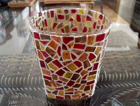 Mozaika - svícen